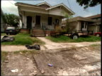 August 16 2006 MONTAGE Homes under repair in the Hurricane Katrina aftermath / New Orleans Louisiana United States