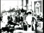 August 1912 B/W WS Clergy members of Russian Orthodox Church walking in procession with Czar Nicholas II, his wife Czarina Alexandra and family in Moscow/ Moscow, Russia
