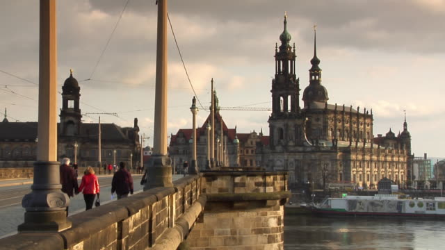 WS, Augustus Bridge and Katholische Hofkirche, Dresden, Germany