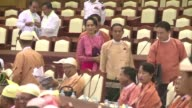 Aung San Suu Kyi leads her party into a new session of Myanmars parliament with lofty expectations that the first popularly elected government in...