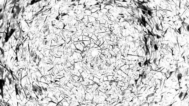 Aureole - Closeup, schwarz und weiß (LOOP) von der Skulptur Königin