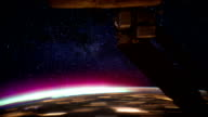/ Aurora Borealis as seen from the International Space Station as it passes from the Pacific Ocean just off the coast of San Francisco to just...