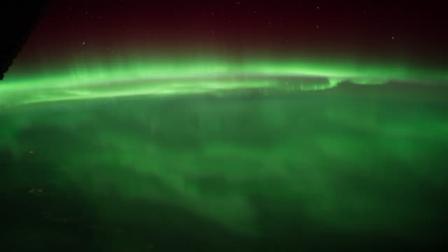 Aurora Borealis over the Great Lakes and Canada time lapse
