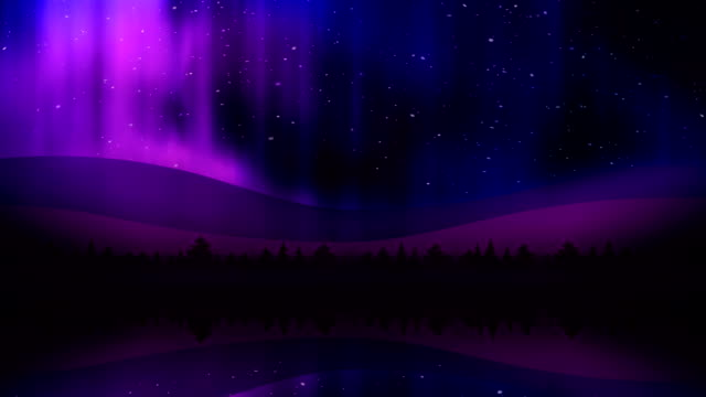 Aurora Lights at Night