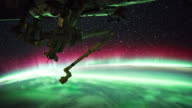 Aurora over the Earth seen from ISS