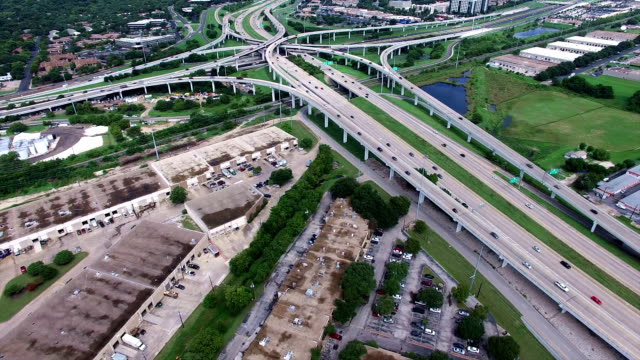 AERIAL: Austin Texas Interchange Highway 183 and Mopac Express way