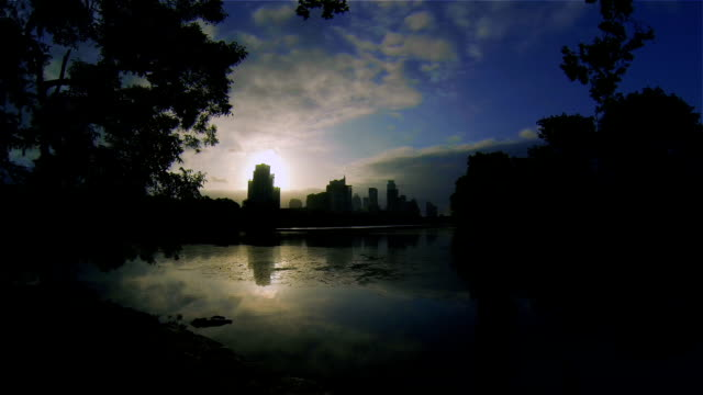 Austin Texas Lou Neff Point Zilker Park Sunrise Time-lapse Colorado River Reflections of Our Amazing Capital City Timelapse Austin Texas Skyline on the Lake