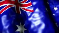 Australia Flag waving, looping