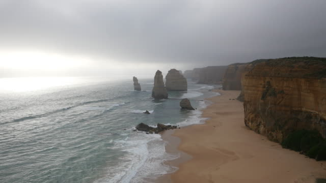 Australia Great Ocean Road 12 Apostles with high fog