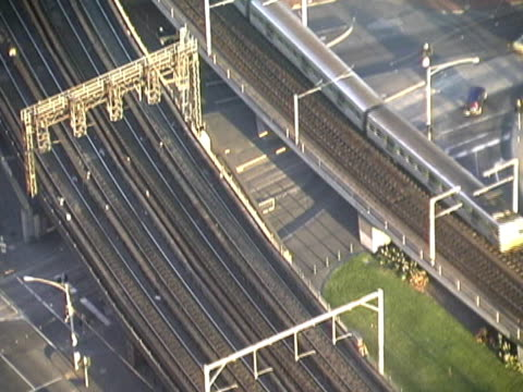 Australia: Melbourne Commuter Train from Above