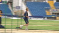 Australia practicing at Headingley ENGLAND Yorkshire Leeds Headingley EXT Brett Lee running up to bowl / Australian batsmen practicing in nets / More...