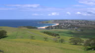 Australia zoom on Werri beach at Gerringong