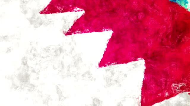 Australische Kunst Flagge