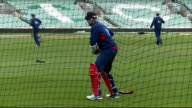 Australian batsman David Warner faces disciplinary action over bar incident EXT Alastair Cook batting during training