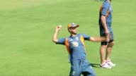 Australian cricket captain Ricky Ponting takes part in a team training session at the Sardar Patel Satdium in Ahmedabad on Wednesday ahead of their...