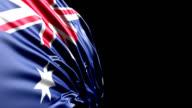 Australian Flag HD, PAL, NTSC, alpha included, looping