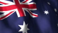 Australian Flag High Detail - Looping