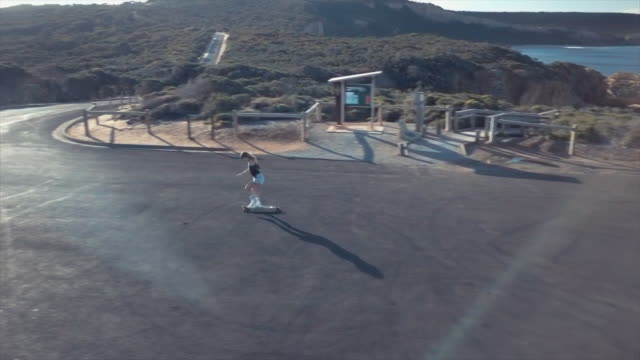 Australian Locals in Sport: aerial view of a skater woman