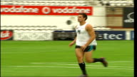 London The Oval EXT Members of Port Adelaide Power Australian Rules team training on pitch