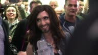 Austrias bearded transvestite crowned Eurovision queen Conchita Wurst returns home to a jubilant welcome vowing to use her newfound fame to promote...