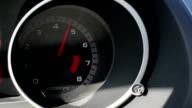 Auto dashboard showing engine running