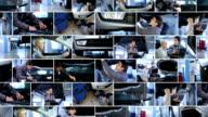 Auto mechanic shop. Video wall.