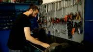 Auto Mechanic using phone