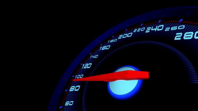 Auto speed meter.3D rendering.