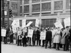 B/W MONTAGE Auto union strike 1930s/1940s Detroit Michigan USA