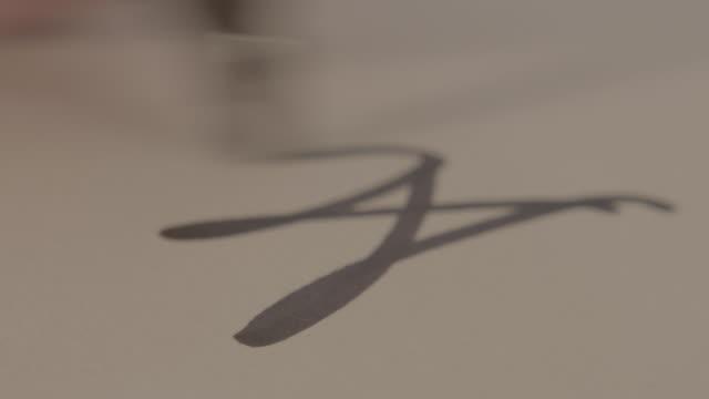 Autograph / Signature on Paper, Close up