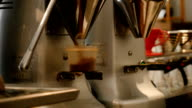 Automated coffee grinder filling container