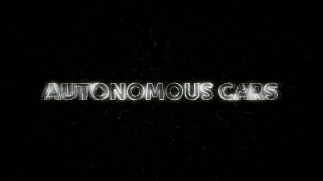 Autonomous Cars words animation