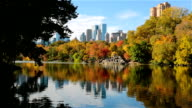 Herbst auf den See im Central Park, New York City