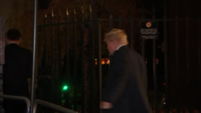 Chancellor Philip Hammond delivers Budget speech EXT Foreign Secretary Boris Johnson along as gives thumbs up and says 'Stamp duty' SOT Light inside...