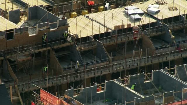 Chancellor Philip Hammond delivers Budget speech Location unknown New flats and houses under construction