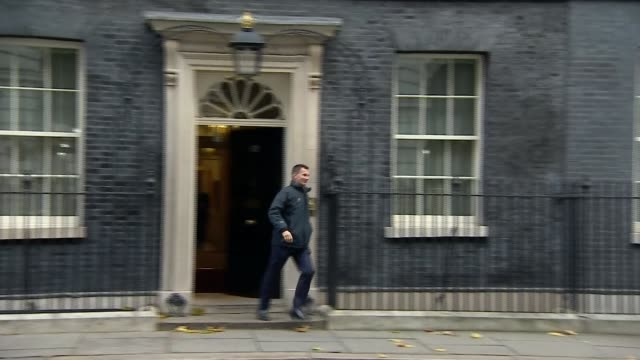 Reaction to NHS funding increase Downing Street Health Secretary Jeremy Hunt MP leaving Number 10
