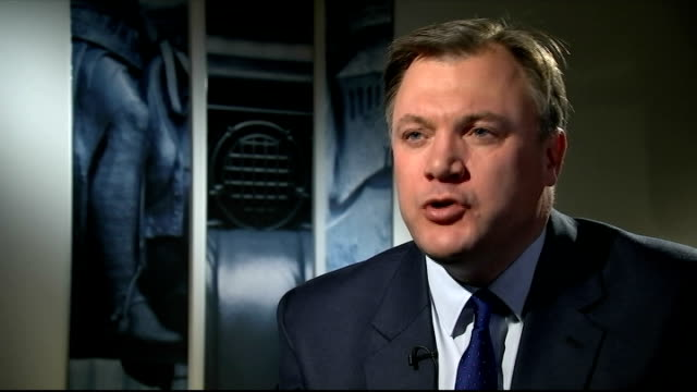Ed Balls interview ENGLAND London INT Ed Balls MP interview re George osborne's autumn statement SOT