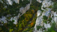 Autumn colors, Foz de Arbayun, Salazar river, Navarra, Spain, Europe