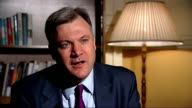 Interview with Ed Balls ENGLAND Central London INT Ed Balls MP interview SOT
