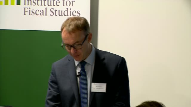 IFS statement ENGLAND London INT Paul Johnson Institute for Fiscal Studies Director press conference SOT