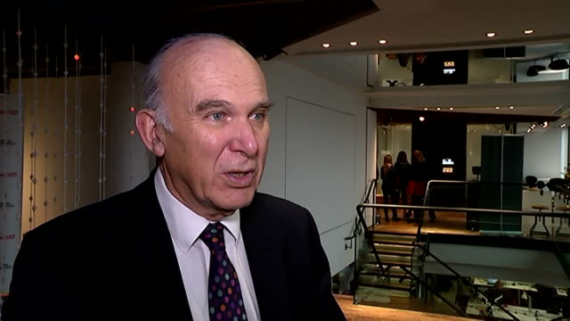 Reaction Vince Cable interview Vince Cable MP interview re Autumn statement SOT