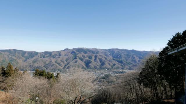Autumn/winter Hodosan (Hodo Mountain) scene in Chichibu, Japan