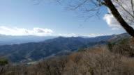 Autumn/winter mountain view in Chichibu, Japan