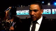 'Avatar' film premiere in London's Leicester Square interviews on the 'blue carpet' Laz Alonso interview SOT on the premiere the blue theme whether...