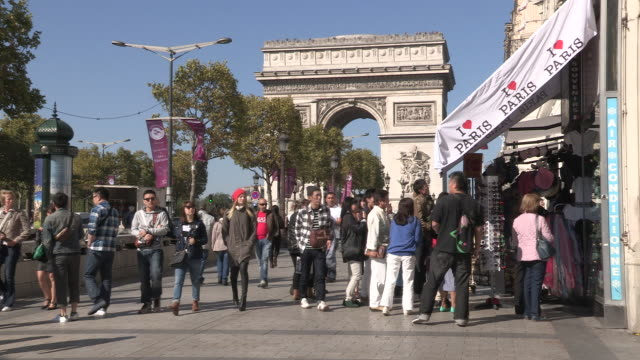 Avenue Champs Elysees in Paris