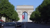 Avenue de la Grande Armee and the Arc de Triomphe Paris France Europe