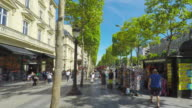 Avenue des  Champs-Elysees in Paris.