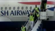 British Airways plane makes emergency landing at Heathrow Airport Accident investigators down steps of British Airways Airbus A319