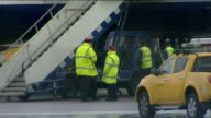 British Airways plane makes emergency landing at Heathrow Airport ENGLAND London Heathrow Airport EXT Engine of British Airways Airbus A319 aircraft...