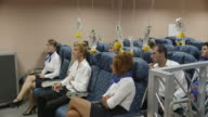WS PAN aviation cabin crew training class with teacher, RED R3D 4k
